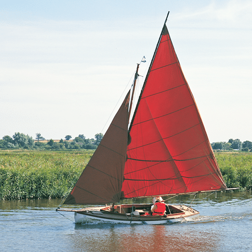 Sailing boat at Ludham
