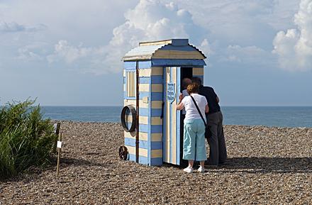 Sculpture Cley beach Norfolk