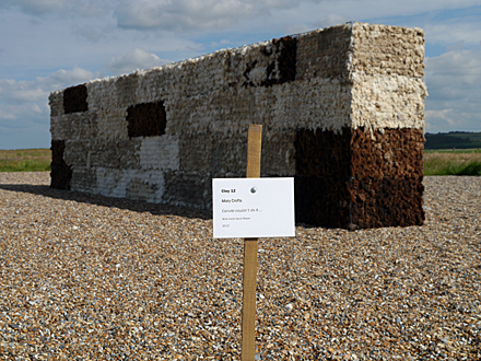 Sculpture at Cley Beach