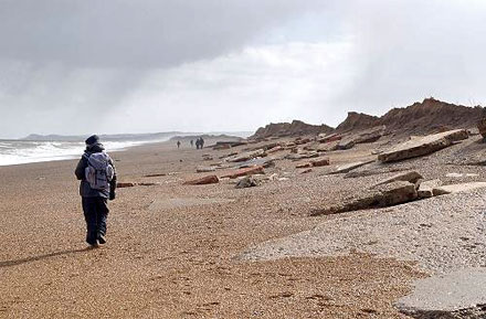 Coastal Erosion at Cley-next-the-Sea North Norfolk