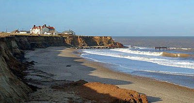 coastal erosion at happisburgh norfolk
