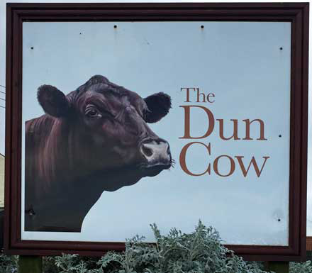 The Dun Cow public house sign