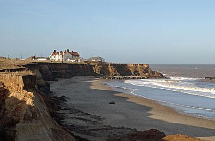 Coastal erosion at Happisburgh North Norfolk