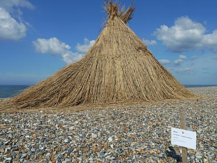 Sculpture at Cley beach