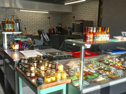 Interior of Cley Smokehouse shop