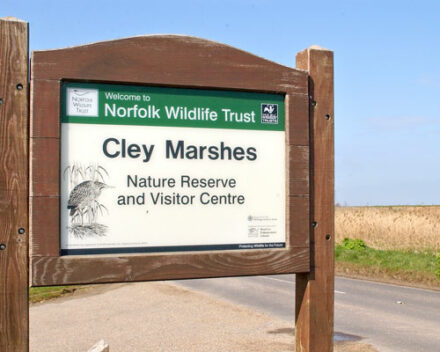 Cley Marshes Sign