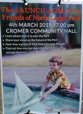 Poster about Friends of North Lodge Park Cromer