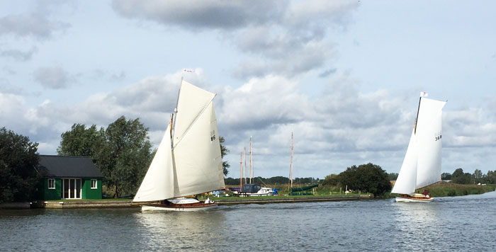 Sailing on the River Thurne Norfolk Broads