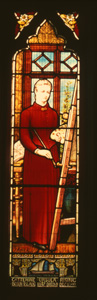 Stained glass window at Horsey Norfolk
