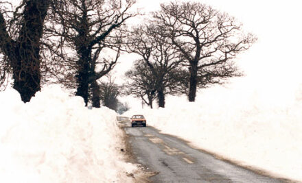Snowdrifts in UK 1962