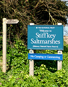 National Trust Stiffkey Saltmarshes Sign