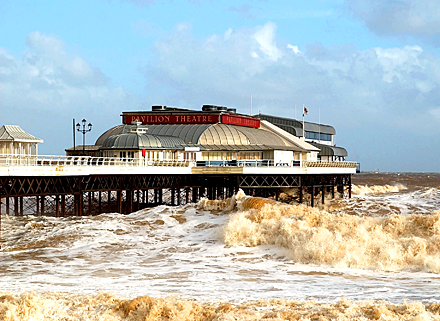 A storm at Cromer in North Norfolk