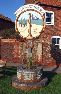 North Norfolk Wells-next-the-Sea town sign