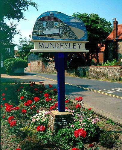 Village Sign Mundesley North Norfolk