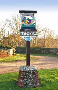 Village sign at Stiffkey North Norfolk